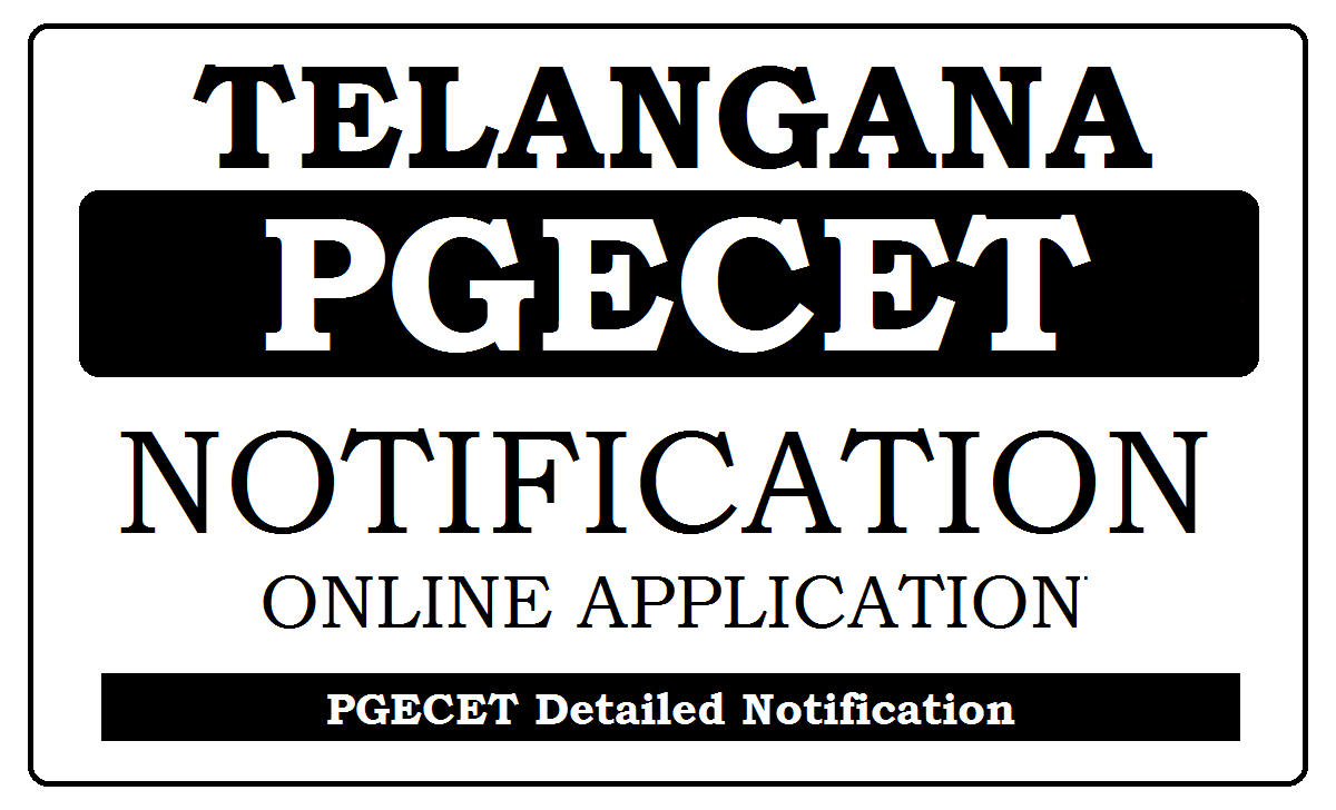 TS PGECET Notification 2020