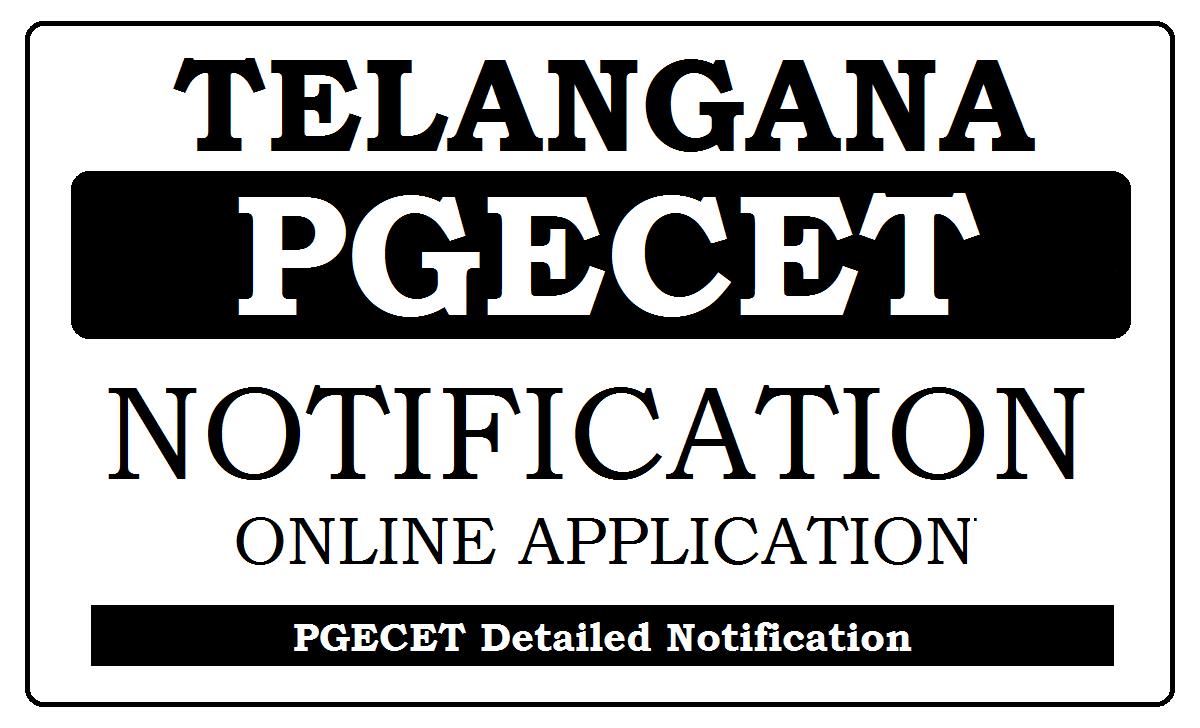 TS PGECET Notification 2021