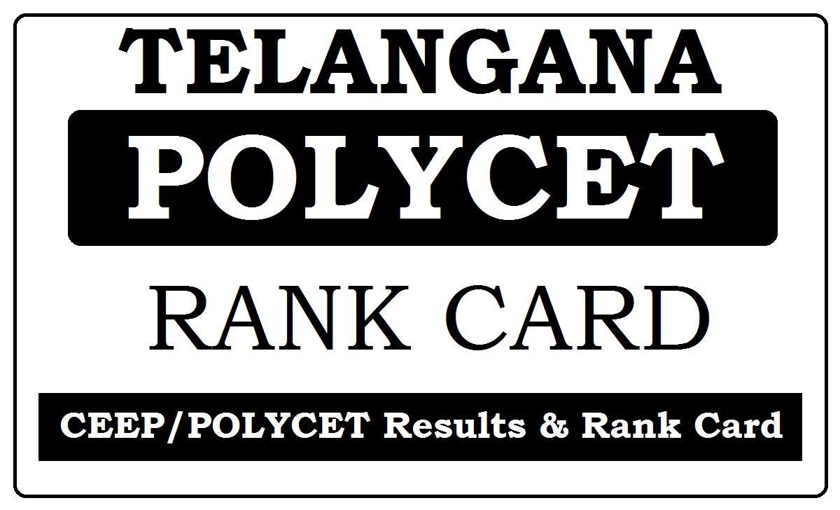 TS Polycet Rank Card 2021