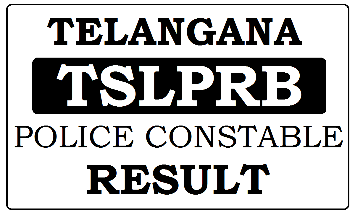 TS Police Constable Results 2021