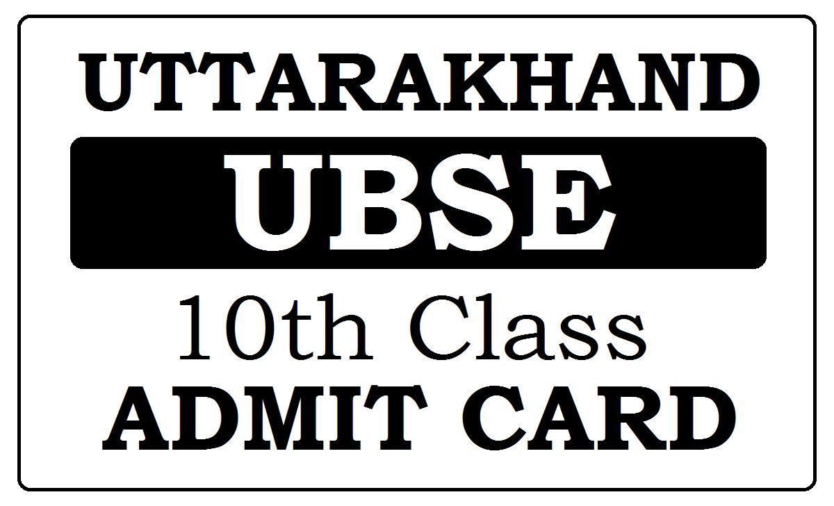 UK Board 10th Admit Card 2021