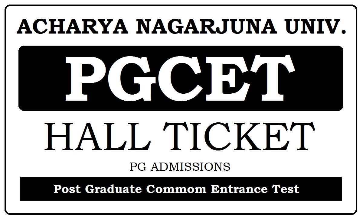 ANU PGCET Hall Ticket 2020