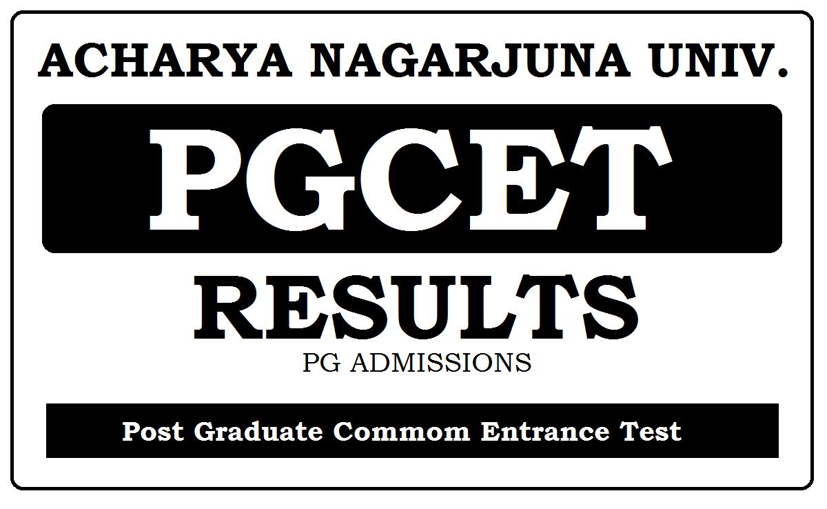 ANU PGCET Results 2021