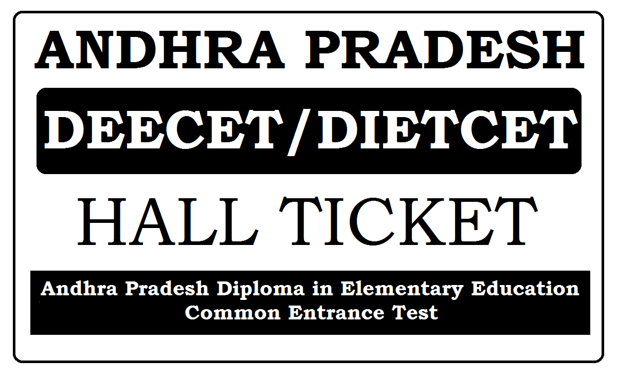 AP DEECET Hall Ticket 2020 Download