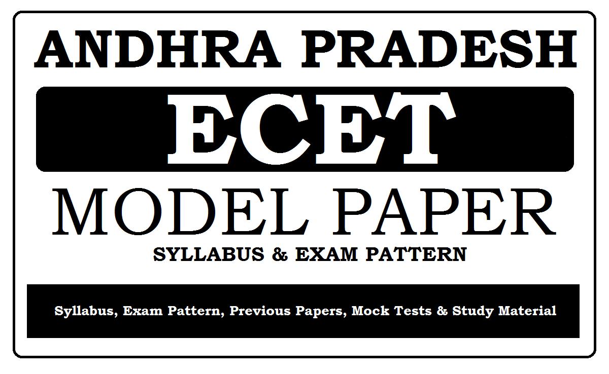 AP ECET Model Papers 2022