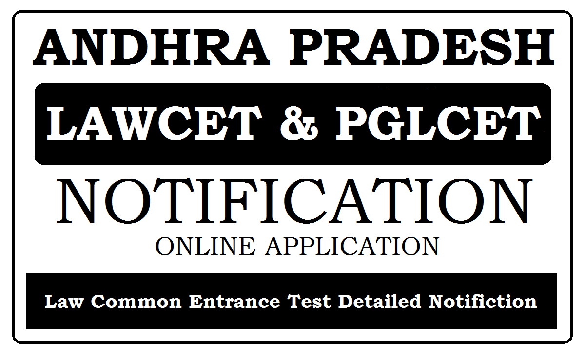 AP LAWCET & PGLCET 2020 Online Application