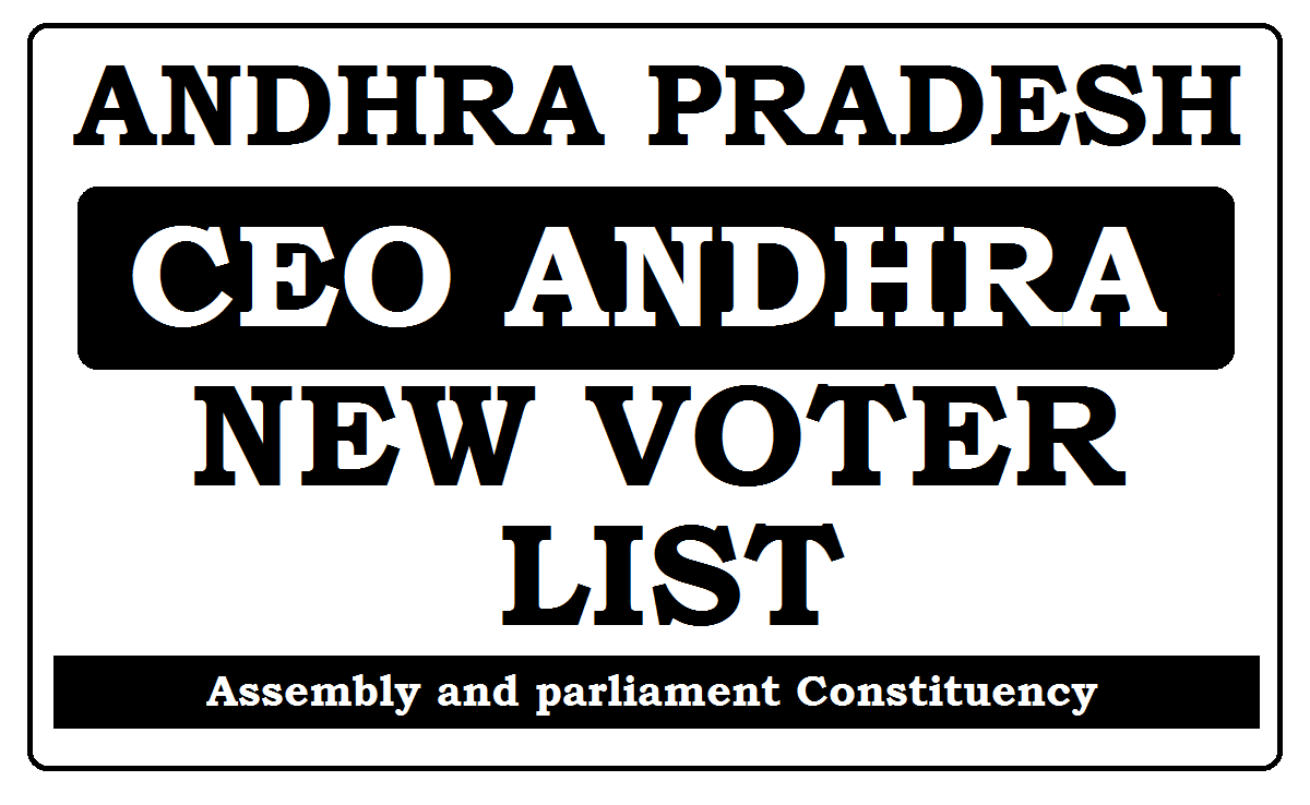 CEO ANDHRA New Voter lists 2020