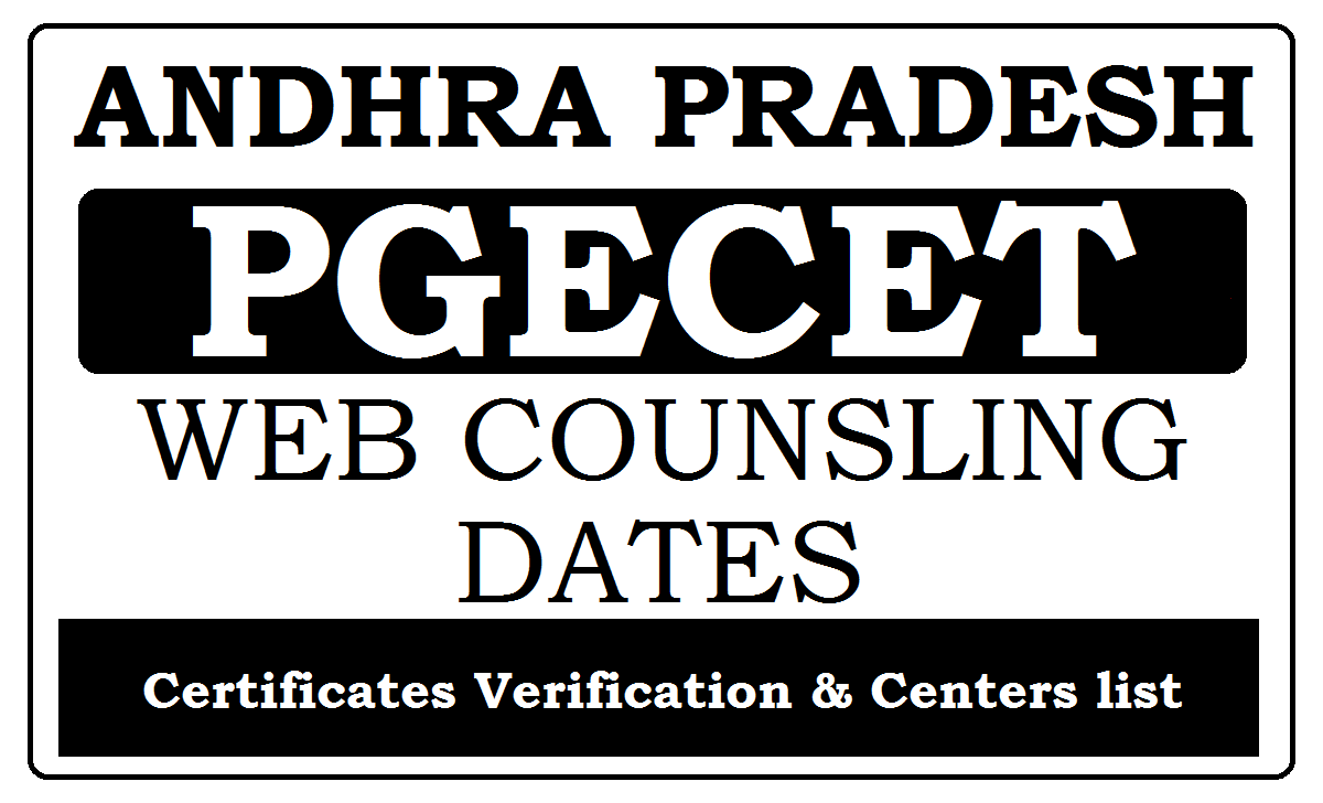 AP PGECET Web Counselling 2021