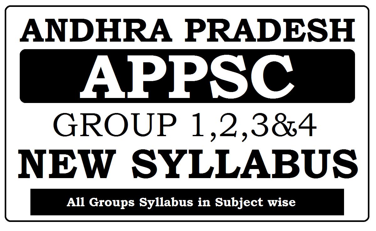APPSC New Syllabus 2021