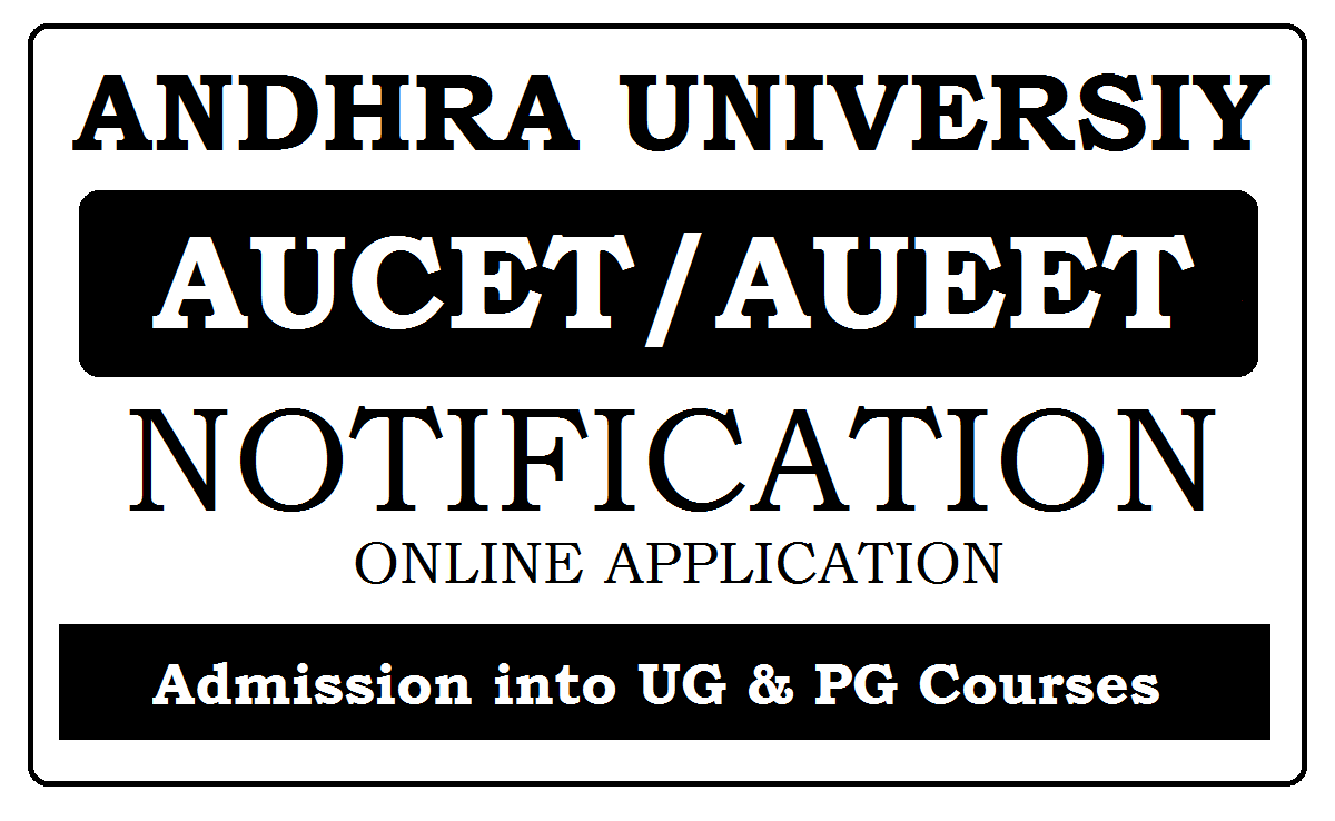 AUCET / AUEET Online application 2021