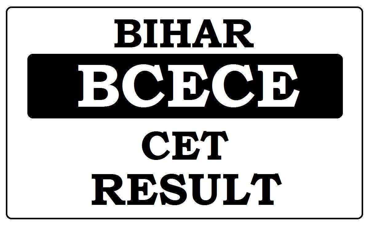 Bihar CET Results 2021