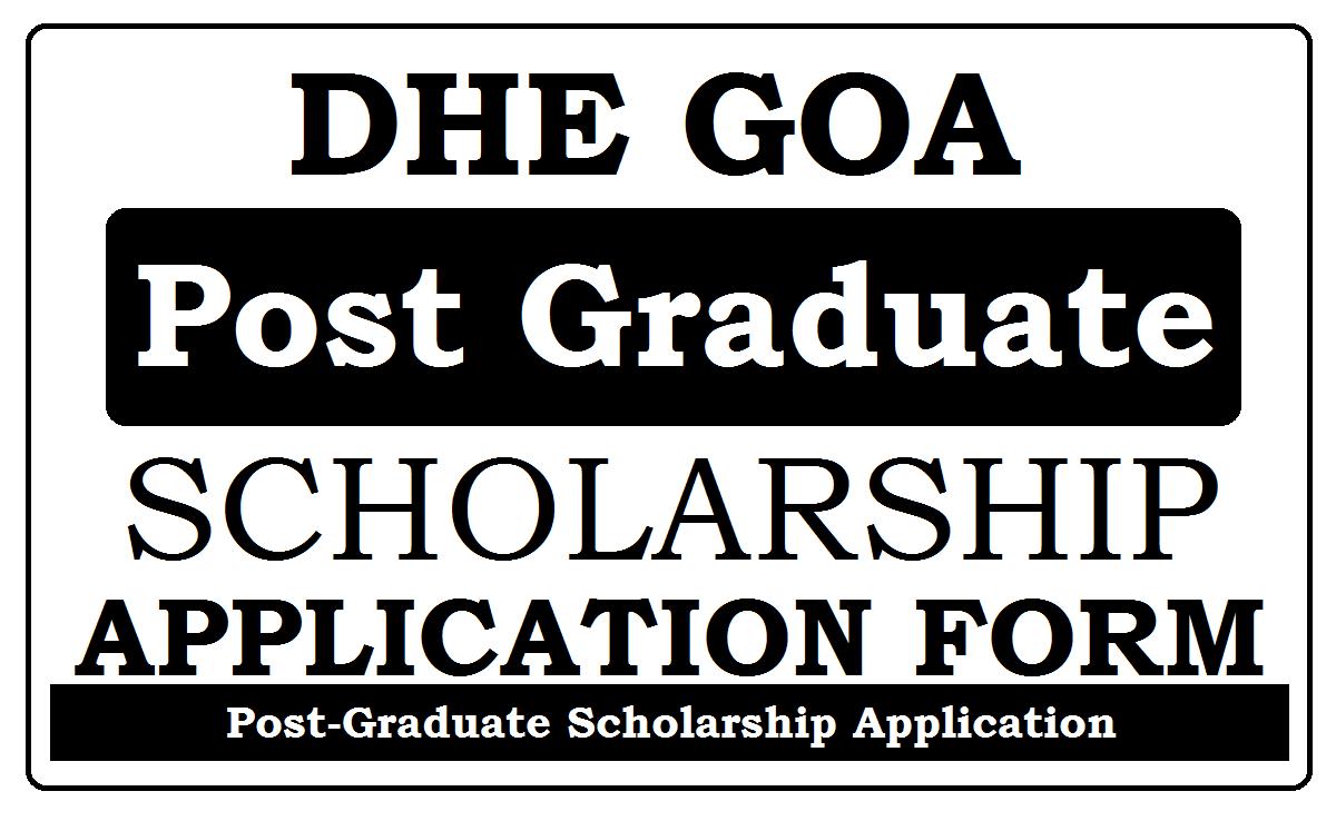 Goa DHE Scholarship 2021