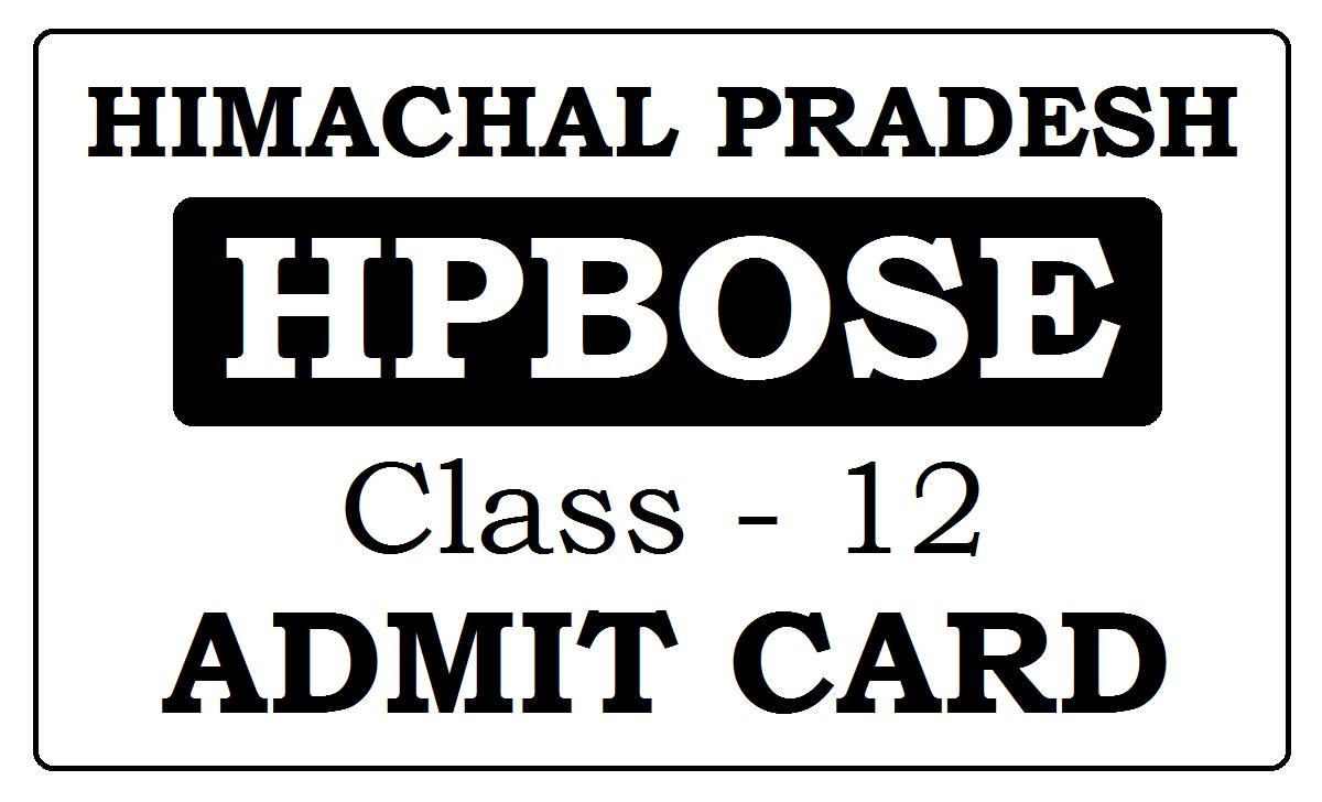 HP Board 12th Admit Card 2021