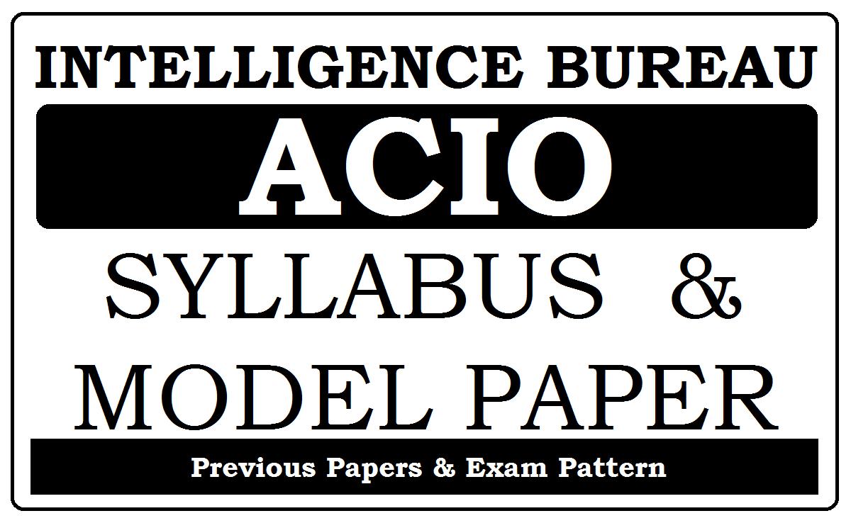 IB ACIO Model Paper 2020