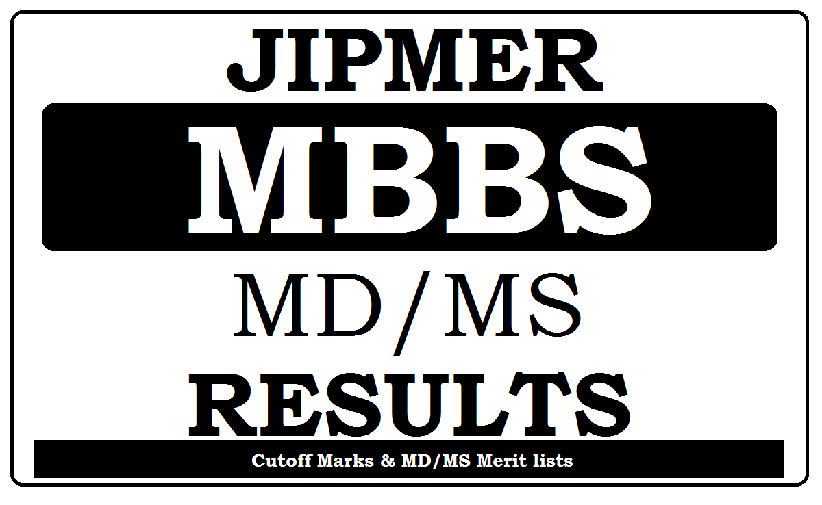 JIPMER MBBS Results 2021