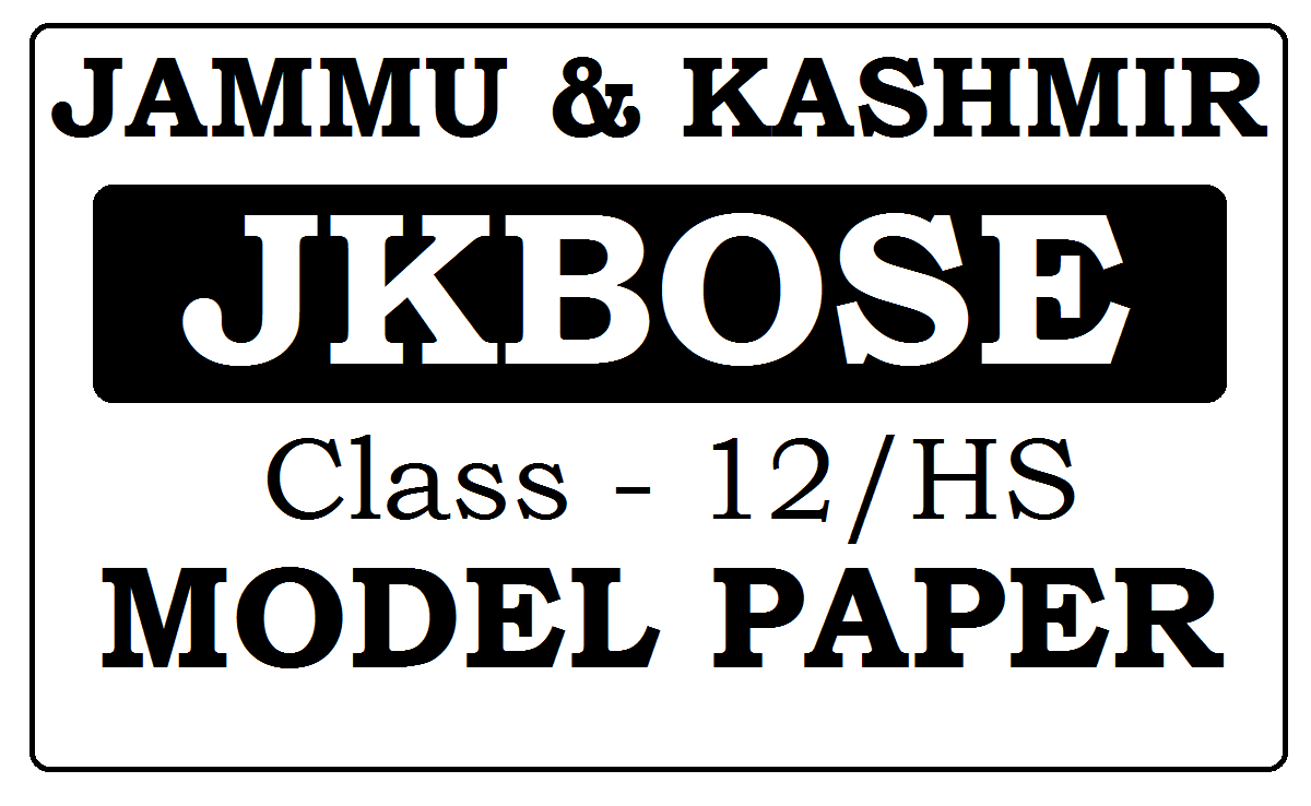 JK Board 12th Model Papers 2021