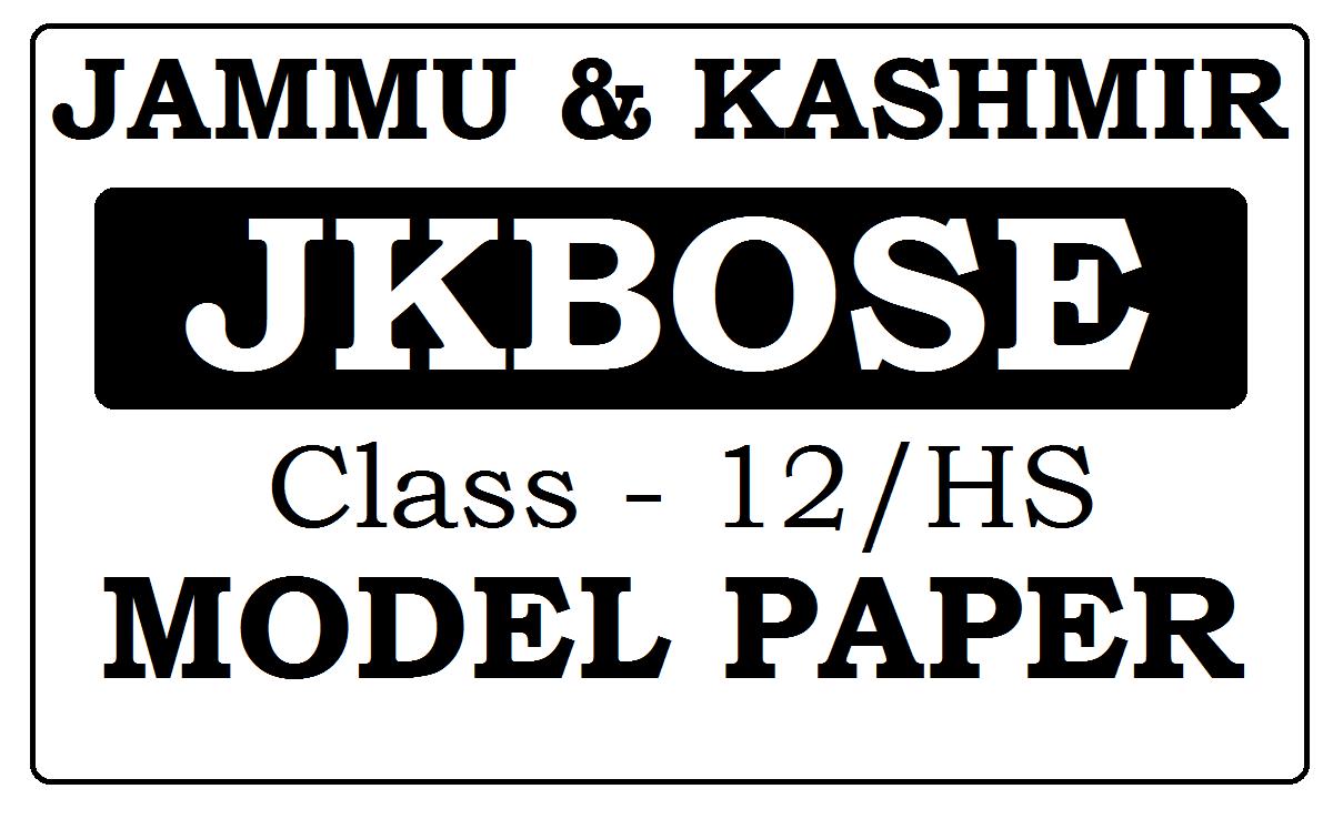 JK Board 12th Model Papers 2021