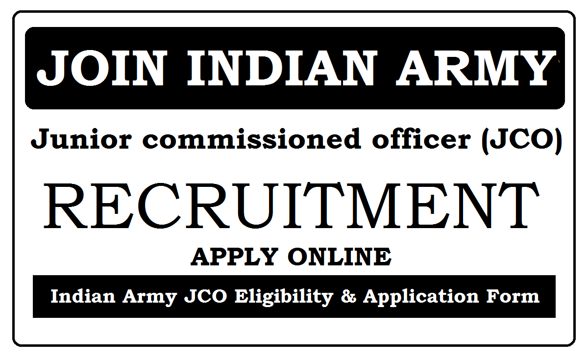 Join Indian Army JCO Recruitment 2021