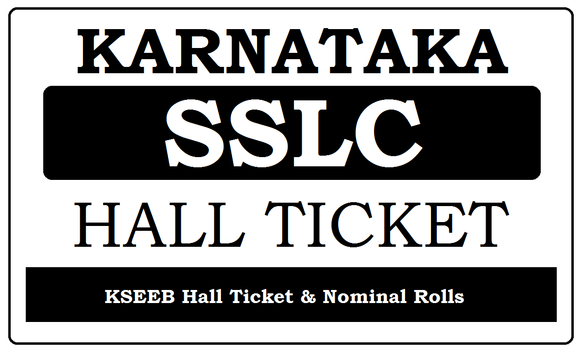 Karnataka SSLC Hall Ticket 2021