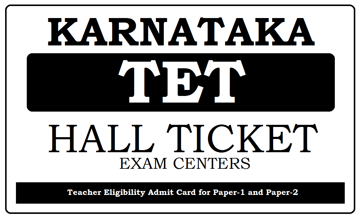 KAR TET Hall Ticket 2020 Download