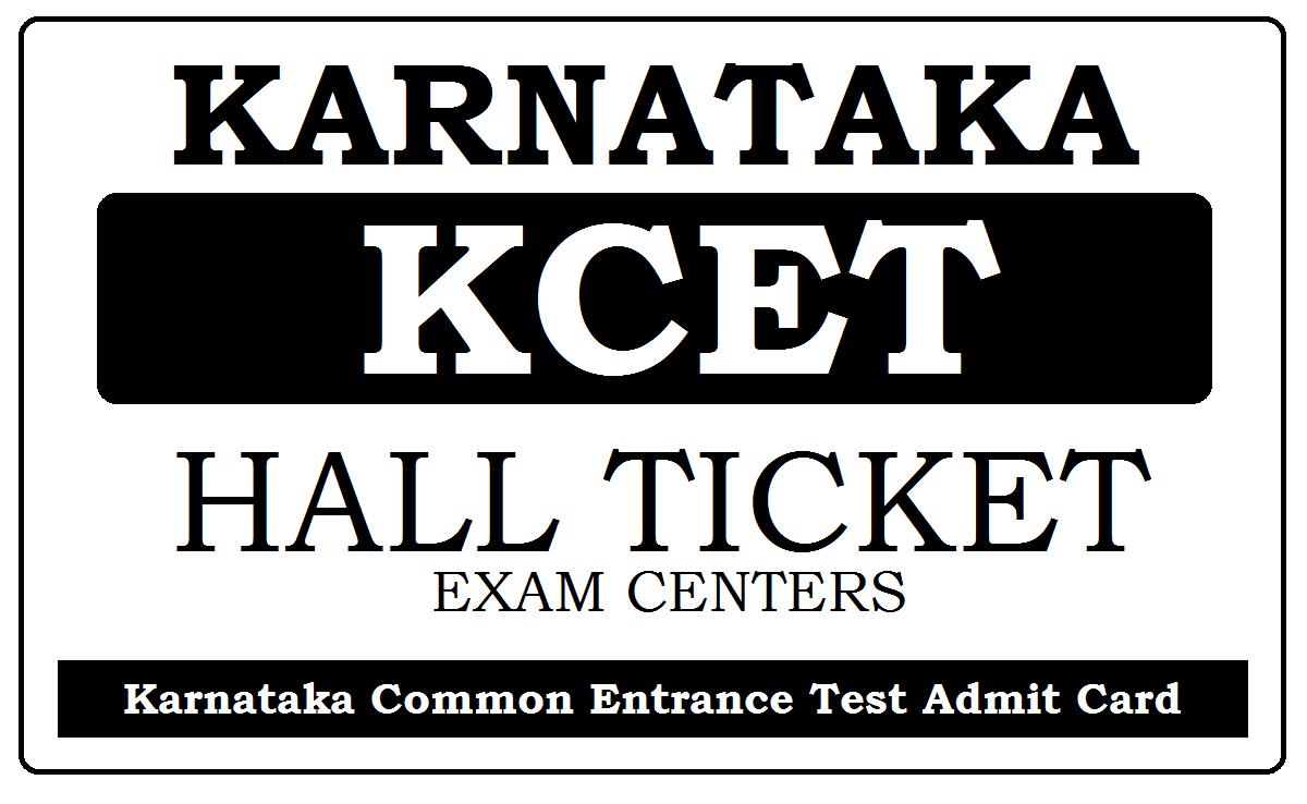 KCET Hall Ticket 2020