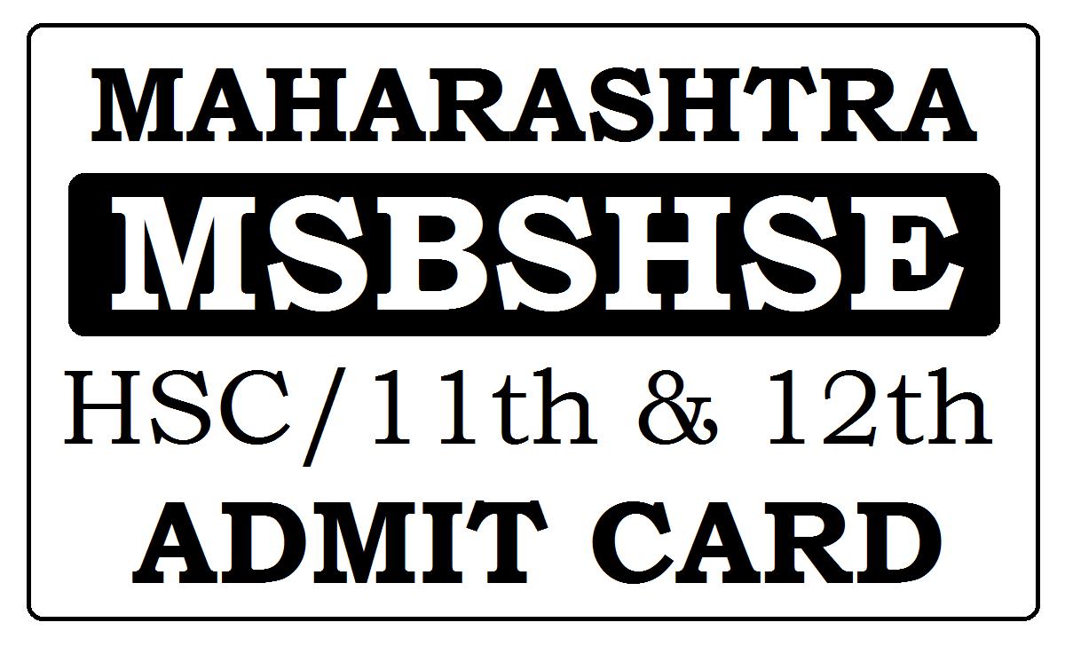 Maharashtra HSC Hall Tickets 2021