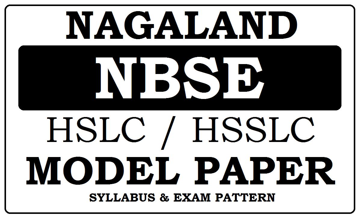 NBSE HSLC, HSSLC Model Paper 2021