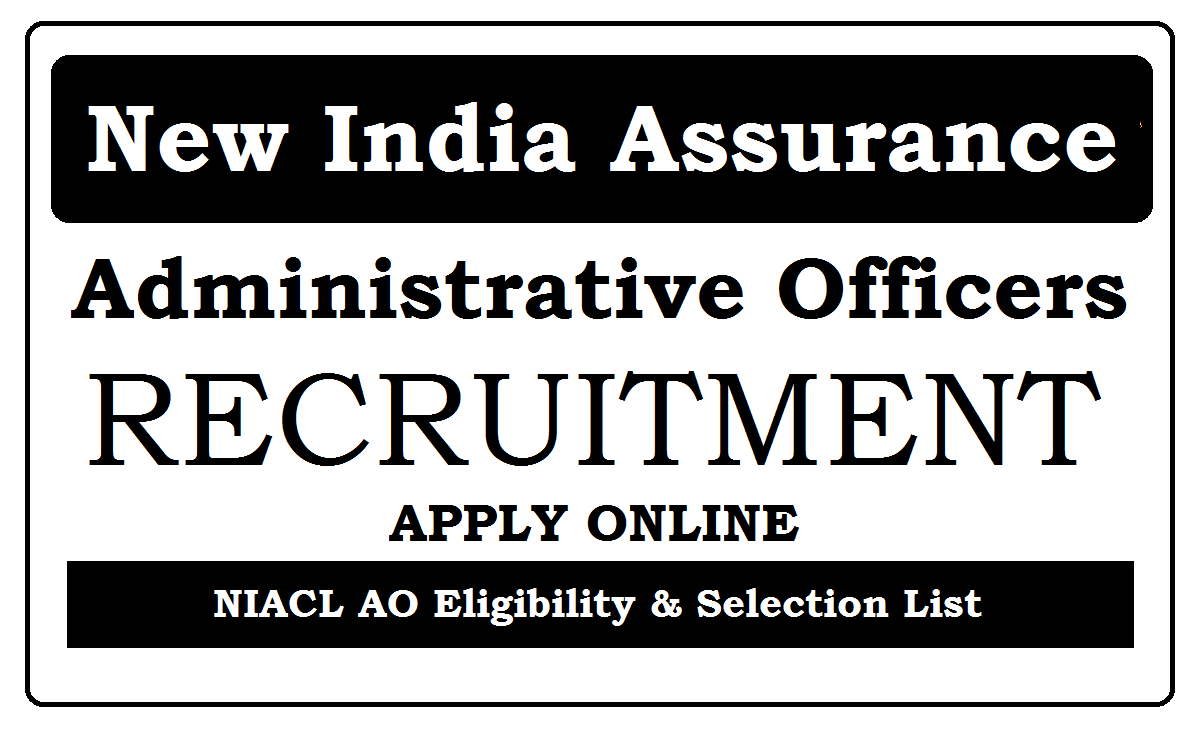 New India Assurance AO Recruitment 2021