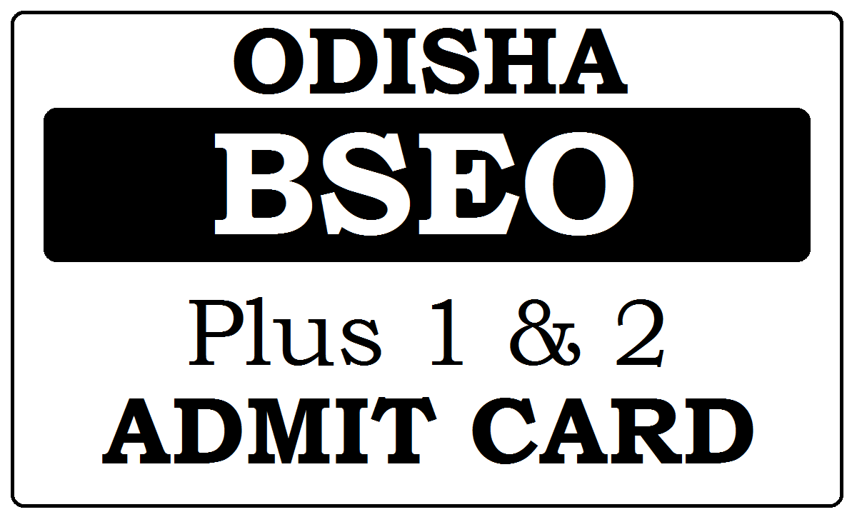 CHSE Odisha Admit Card 2021