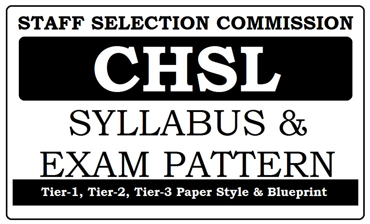 SSC CHSL Syllabus 2020