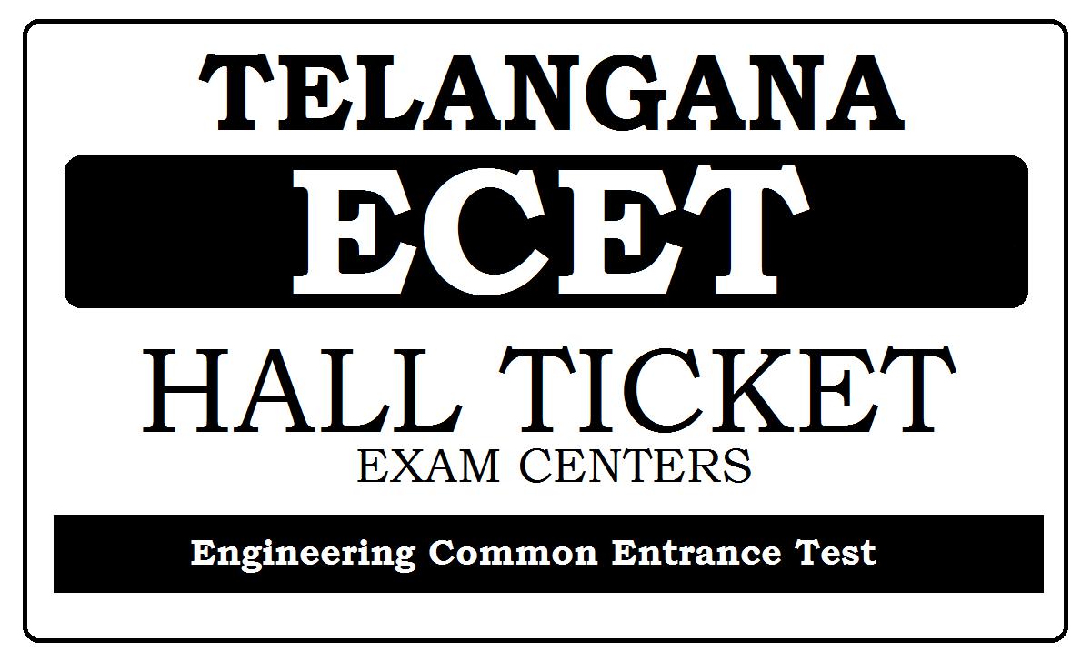 Telangana ECET Hall Ticket 2020