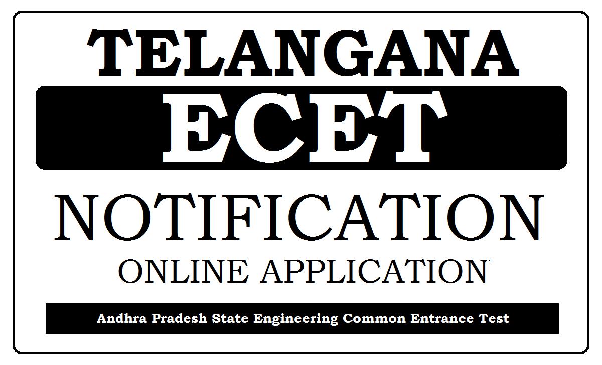 Telangana ECET Notification 2021