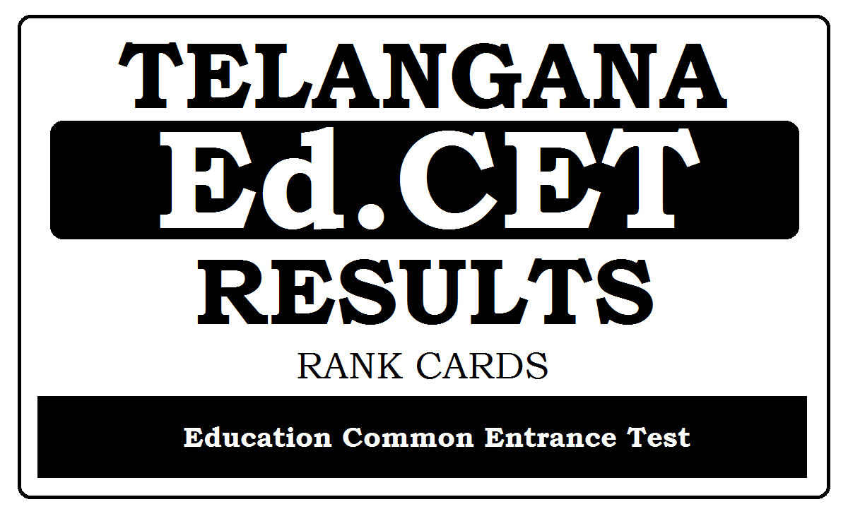 TS Ed.CET Results 2021