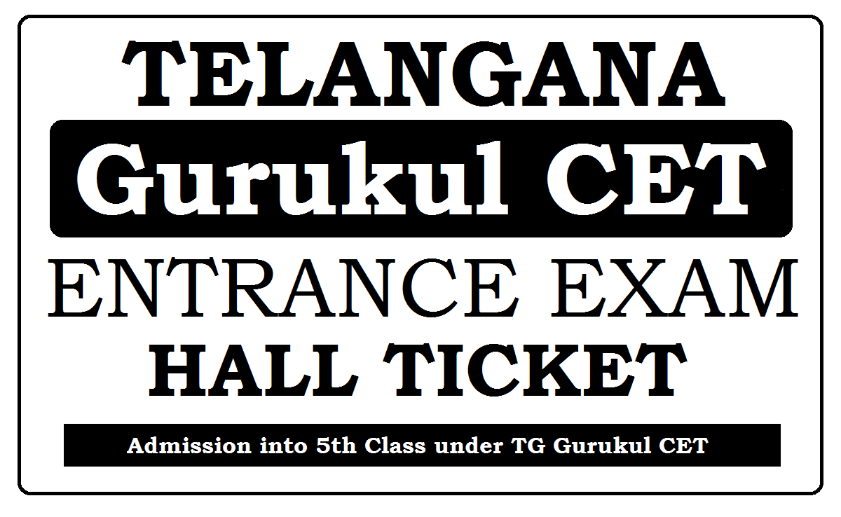 TG Gurukul CET Hall Ticket 2020