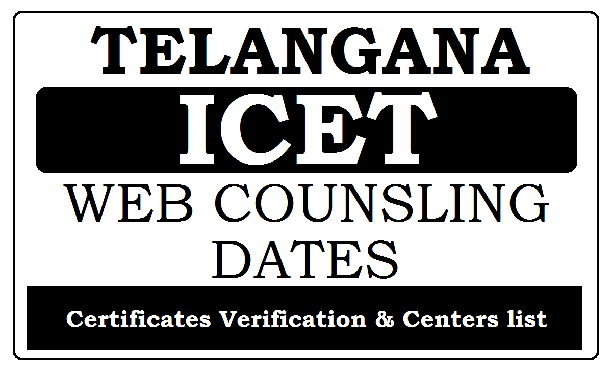 TS ICET Web Counselling Dates 2020