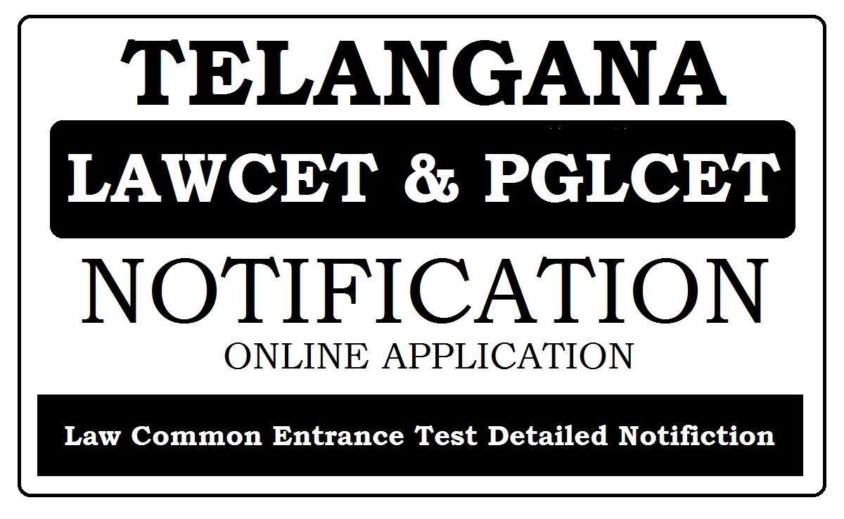 TS LAWCET & PGLCET Notification 2021