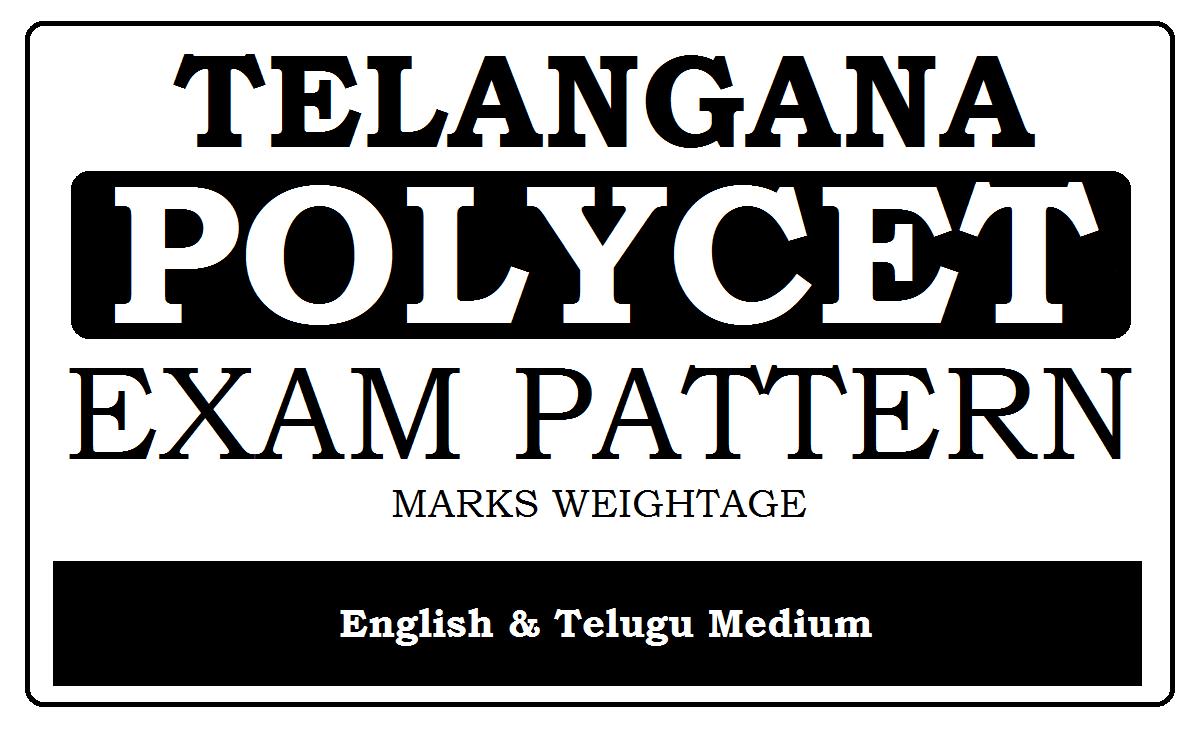TS Polycet Exam Pattern 2021