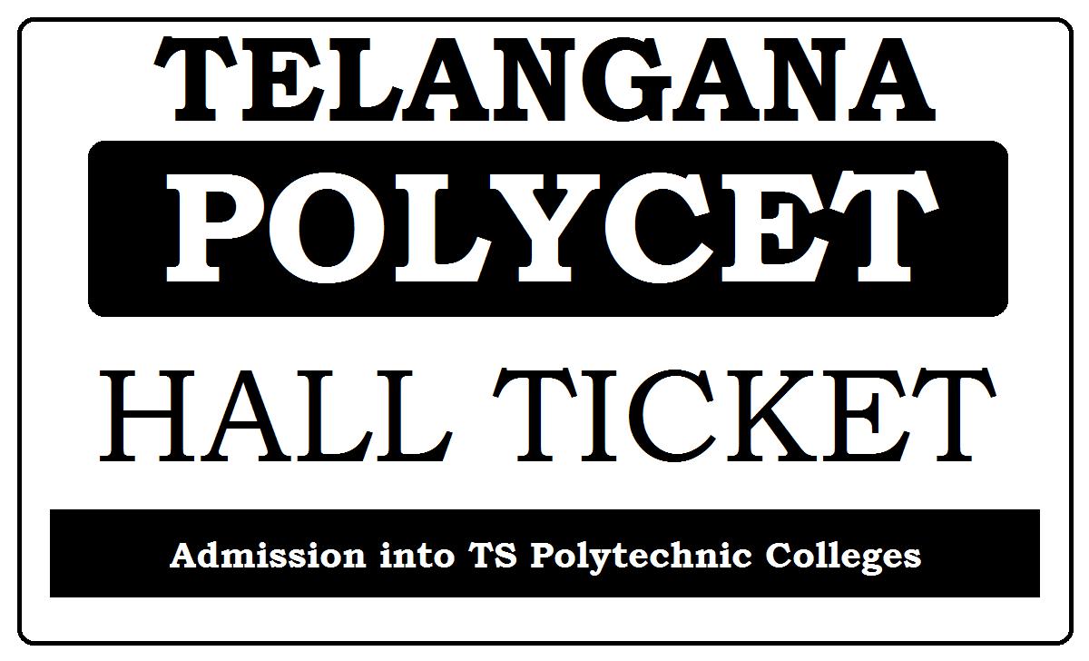 TS POLYCET Hall Ticket 2020