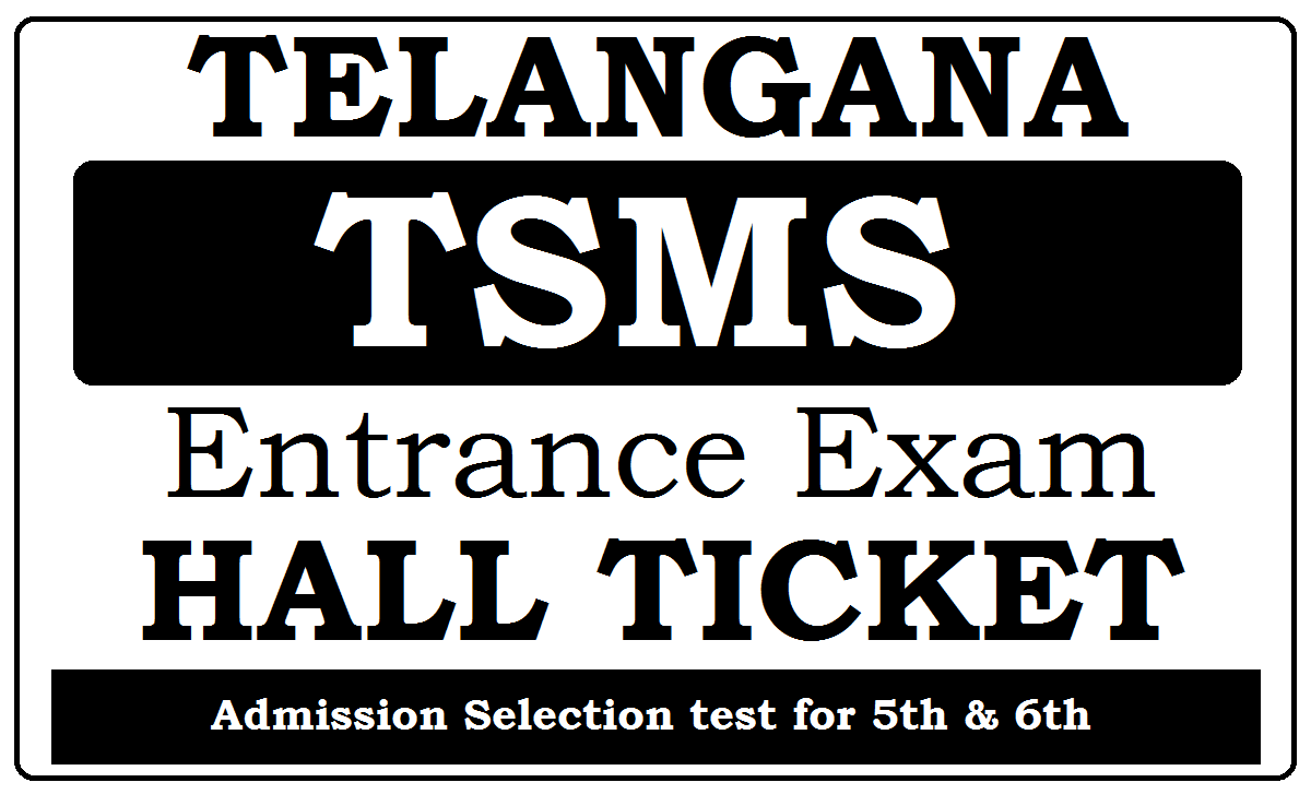 TS Model School Hall Ticket 2021