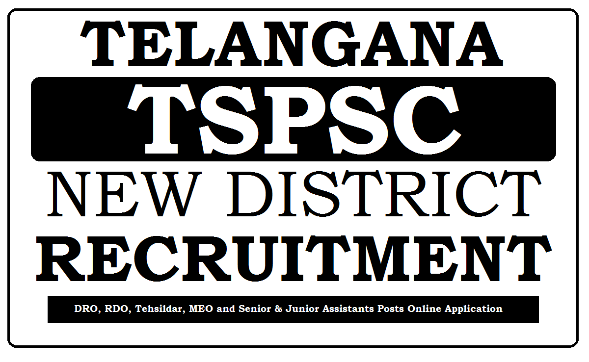 TS New District Recruitment 2020