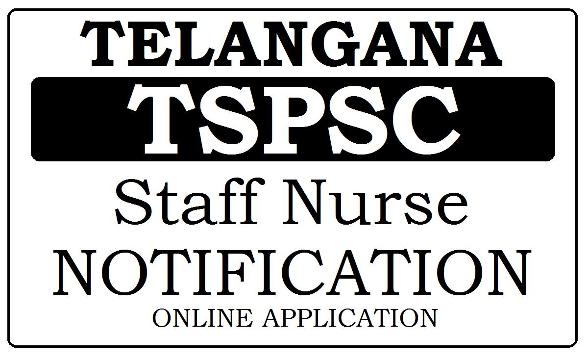 TSPSC Staff Nurse Recruitment 2020